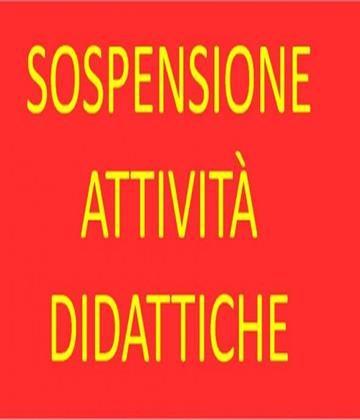 SOSPENSIONE ATTIVITA' DIDATTICHE FINO AL 3 APRILE 2020