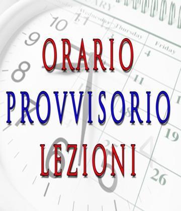 ORARIO PROVVISORIO IN VIGORE DAL 30/11/2020