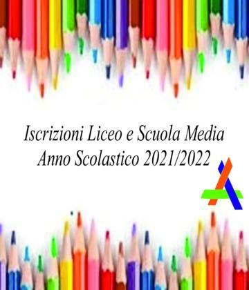 Iscrizioni Liceo e Scuola Media a.s. 2021/2022